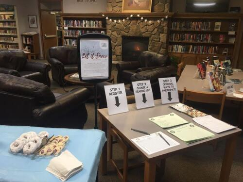 Let it Snow Reading Club Sign Up Day